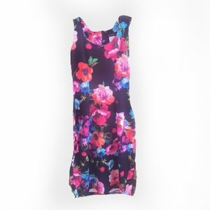 Gorgeous Tropical Print Sleeveless Dress